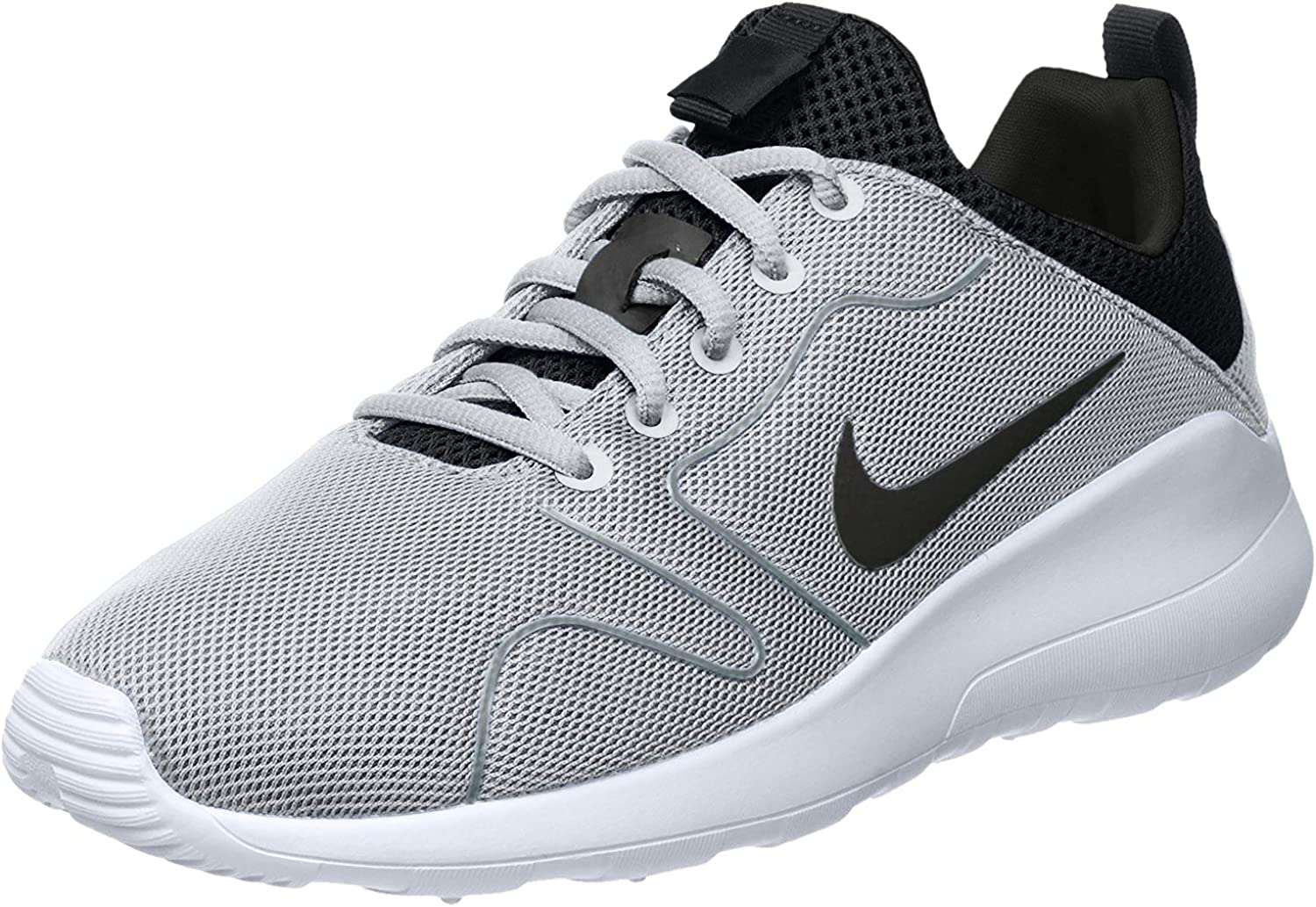 Nike Men s Kaishi 2.0 Wolf Grey Black White Running Shoes – 8 D M US