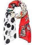 Desigual foulards 18waww28 manuela patch rouge
