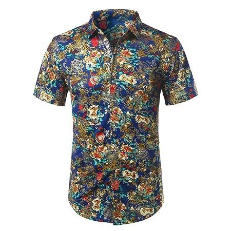 NSSY Camisa de Hombre Camisa de Verano de Hombre para Hombre ...