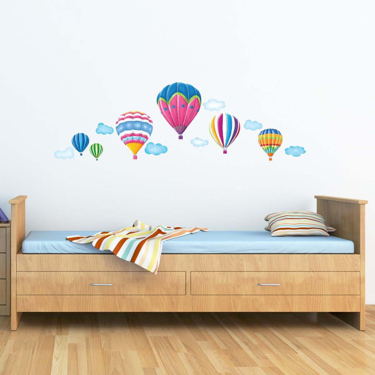 Decowall dw 1301ac 6 hot air balloons in the sky kids wall decowall dw 1301ac 6 hot air balloons in the sky kids wall stickers wall decals peel and stick removable wall stickers for kids nursery bedroom living room amipublicfo Choice Image