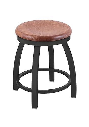 Holland Bar Stool Co. Misha Swivel Vanity Stool, 18 Seat Height, Medium Oak