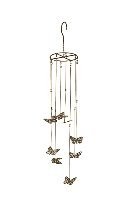 Ancient Graffiti Hanging Flamed Butterflies Mobile Hanging, 5 By 31 Inch