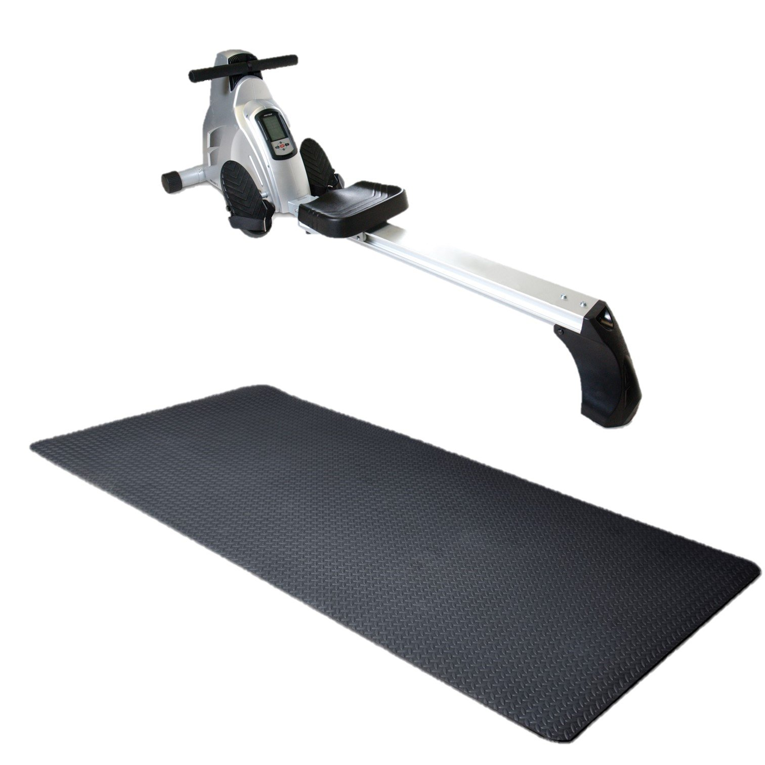 Velocity Exercise Black Magnetic Rower (Gray with Equipment Mat) by velocityexercise