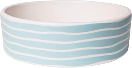 Park Life Designs Small Pet Bowl 5-1//4 Heavyweight Ceramic Dish Stays Put Chew-Proof Lisbon Pattern Microwave and Dishwasher Safe
