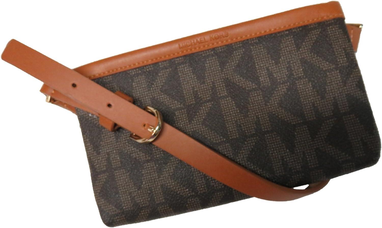 Michael Kors MK Signature Belt Wallet Fanny Pack,Travel Leather X-Large: Amazon.es: Deportes y aire libre