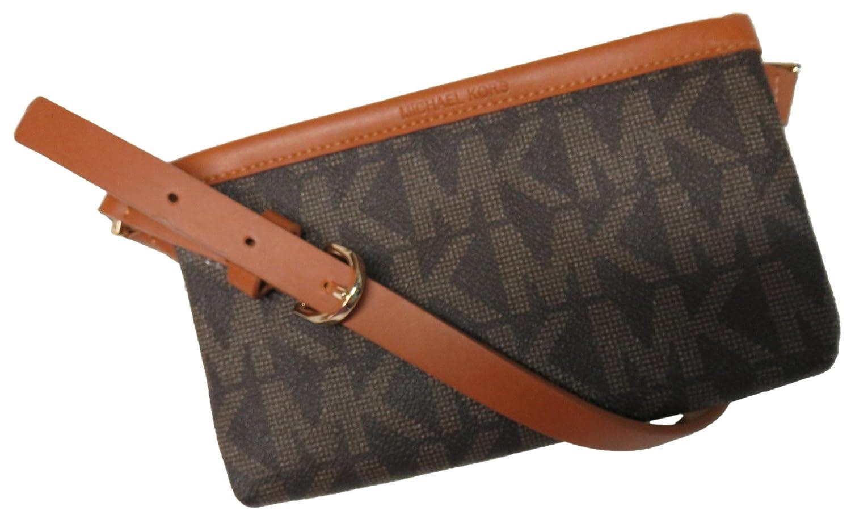 Michael Kors MK firma cinturón cartera de piel Fanny Pack, viaje grande: Amazon.es: Deportes y aire libre