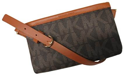 a49324b49c251 Image Unavailable. Image not available for. Color  Michael Kors MK  Signature Belt Wallet Fanny Pack ...
