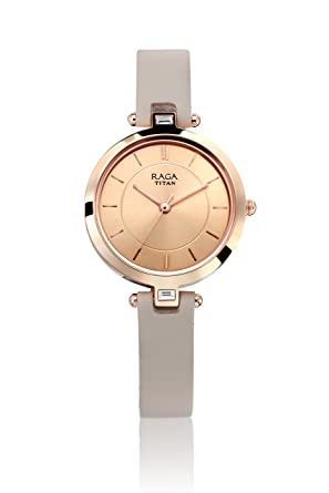 684f2bd512c Image Unavailable. Image not available for. Colour  Titan Raga Viva Analog  Rose Gold Dial Women s Watch ...
