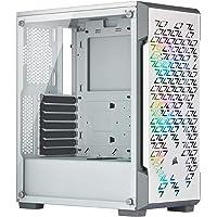 Corsair iCUE 220T RGB Airflow gehard glas Mid-Tower ATX Smart Gaming behuizing, wit
