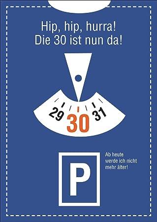 Lustige Einladungskarte Zum 30. Geburtstag: Hip, Hip, Hurra! Die 30 Ist