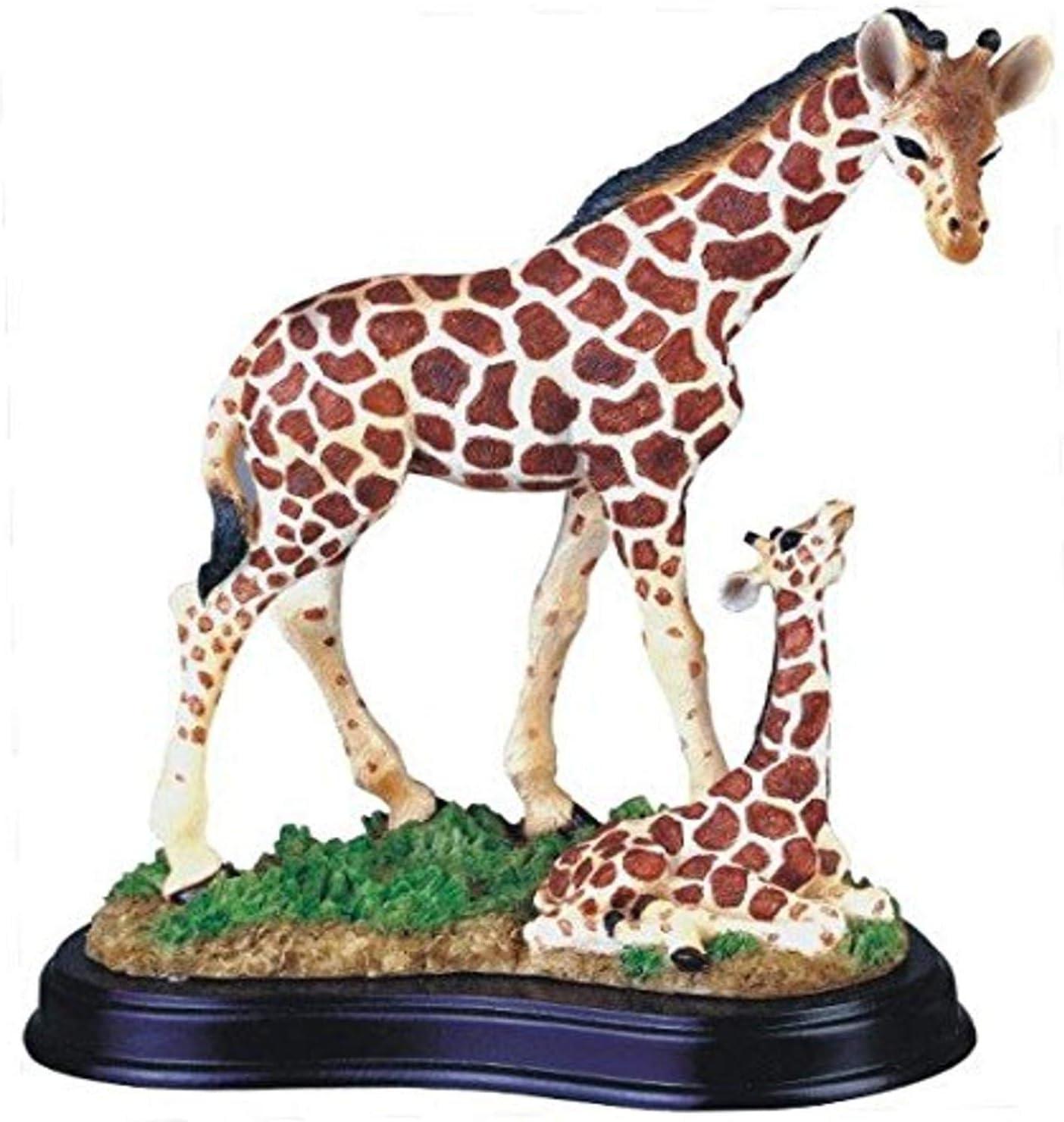 StealStreet SS-G-54004 Giraffe with Baby Collectible Wildlife Figurine Sculpture Statue Model