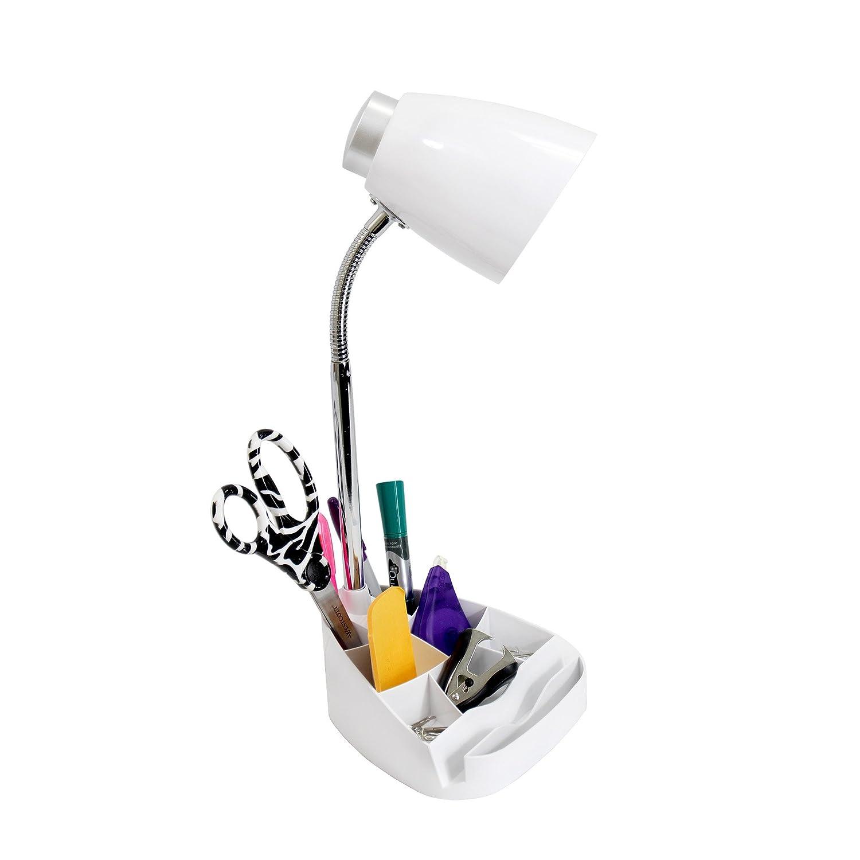 Limelights LD1002-WHT Gooseneck Organizer Desk Lamp with iPad ...