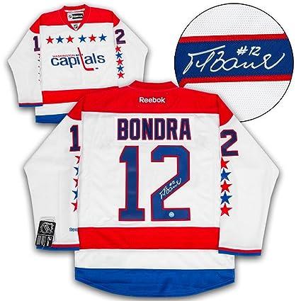 e9eca8474d6 Peter Bondra Signed Jersey - Retro Reebok Premier - Autographed NHL ...