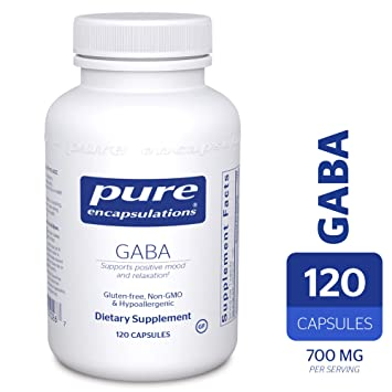 Pure Encapsulations   Gaba   Supports Positive Mood And Relaxation*   120 Capsules by Pure Encapsulations