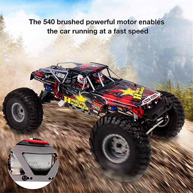 StageOnline Coche Teledirigido, RGT RC Crawler 1/10 2.4GHz 4WD Off Road Rock Crawler Truck 4x4 Energía eléctrica Waterproof Hobby RC Car Rock Hammer RR-4 ...