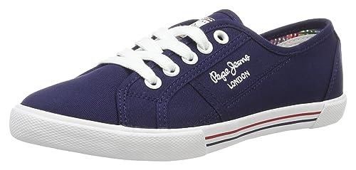 Pepe JeansABERLADY Anglaise - Zapatillas Mujer, Color Azul, Talla 37