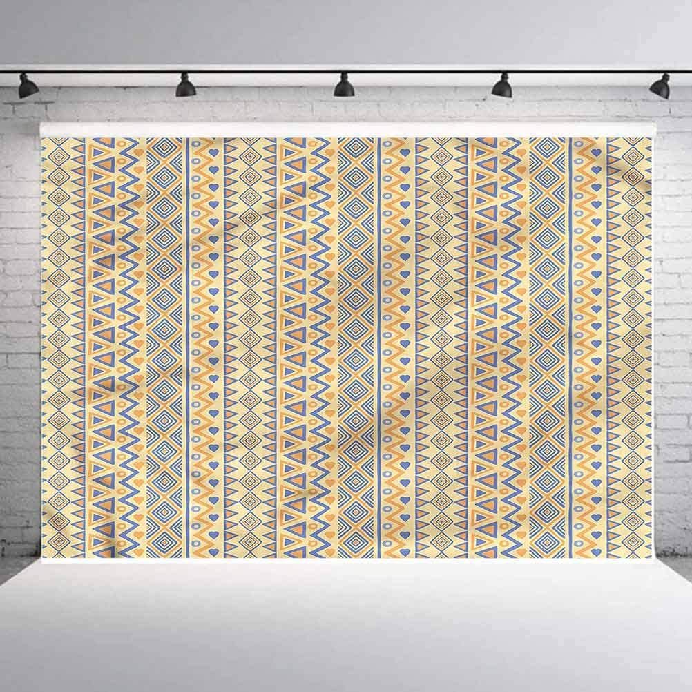 8x8FT Vinyl Wall Photography Backdrop,Striped,Stripes Native American Background for Baby Birthday Party Wedding Studio Props Photography