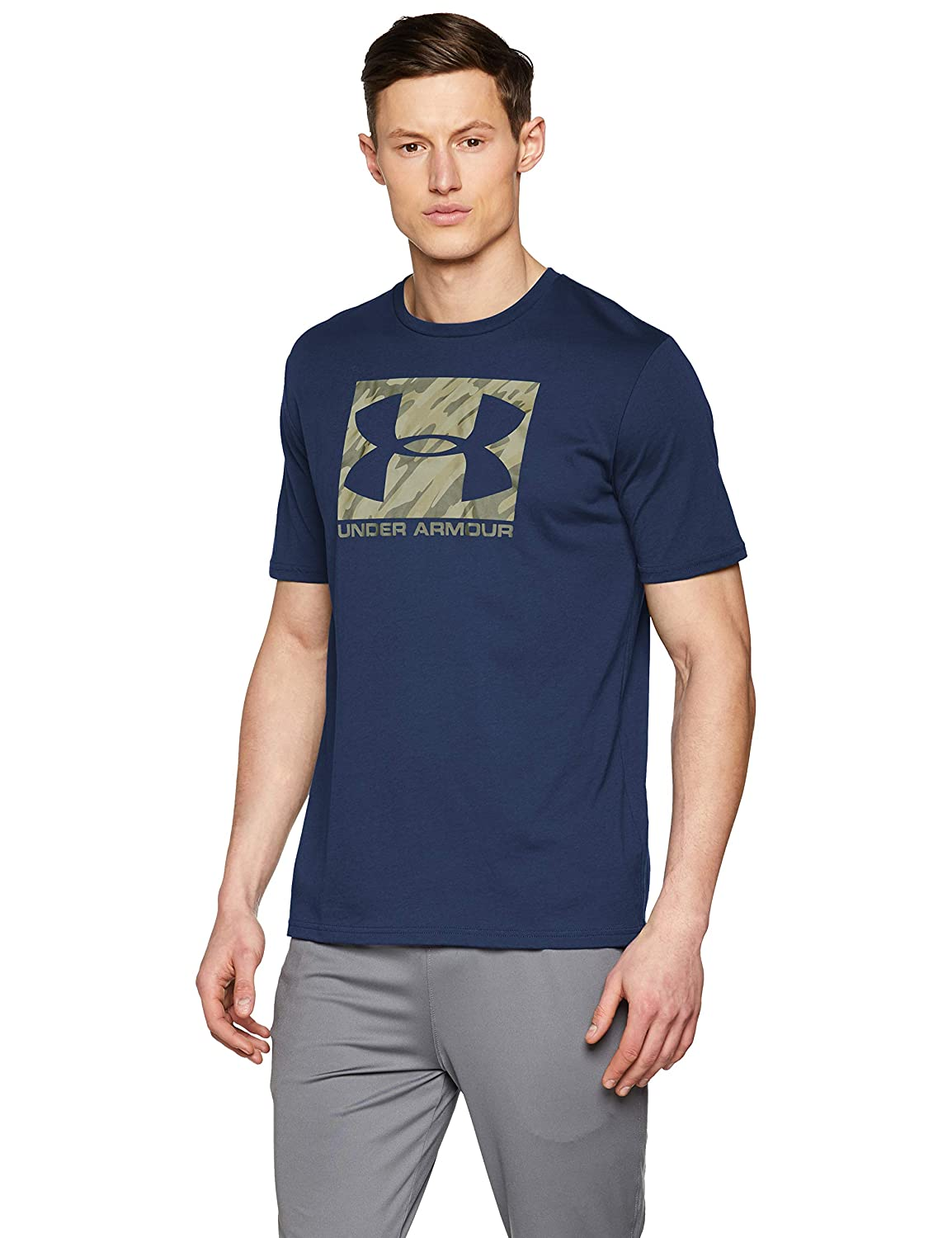 TALLA S. Under Armour UA Boxed Sportstyle SS Camiseta, Hombre