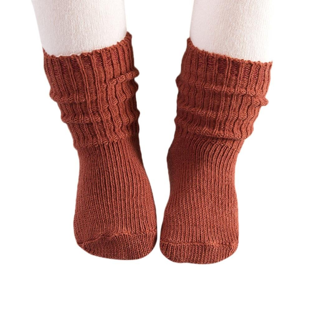 Baby Socks Oldeagle Unisex Baby Cotton Soft Solid Kids Boys Girls Anti-slip Socks