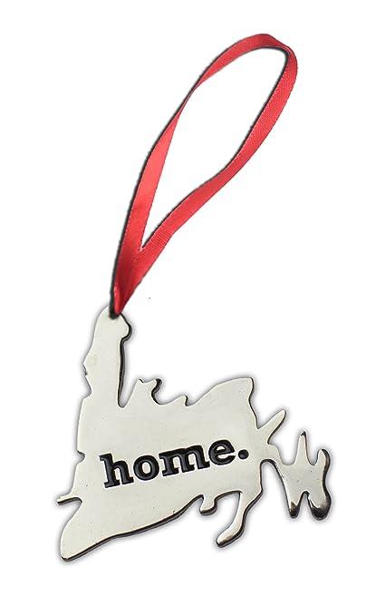 Newfoundland Home Map Silver Hanging Christmas Ornament Gift - Newfoundland Home Map Silver Hanging Christmas Ornament Gift: Amazon
