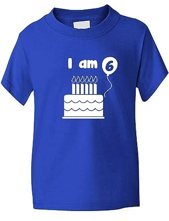 Birthday Kids Ages I Am 6 Six T Shirt Sizes 1 13 Years Amazoncouk Clothing
