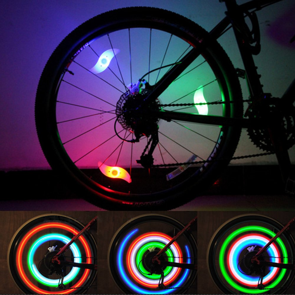 Amazon.com : Bike Spoke Light Cycling Spokelit Bicycle Decoration ...