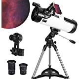Telescope 114AZ Newtonian Reflector Telescope for Astronomy Adults, Great Astronomy Gift for Kids Adults, Comes with…