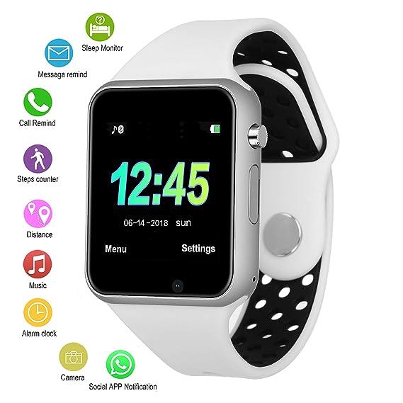 ae6cbb222451 IOQSOF Reloj Inteligente con Bluetooth