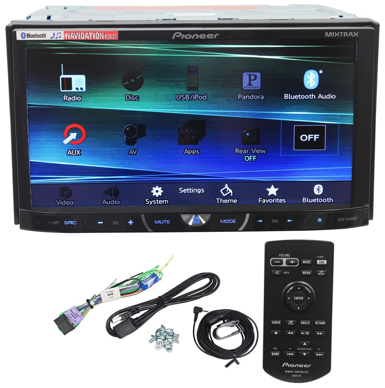 Amazon com pioneer avh x4600bt 7 double din car stereo receiver bluetooth siri eyes free app radio mode pandora iphone ipod android compatible