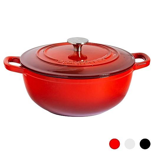 Argon Tableware Horno holandés de Hierro colado - Rojo - 3,5 l ...