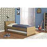 سرير مزدوج من بوليتورنو 2510، قياس Twin بني