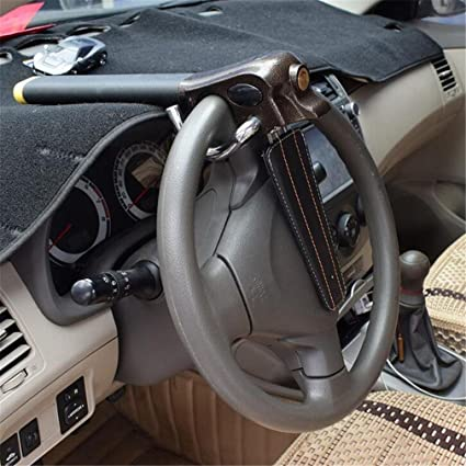 QXXZ Bloqueo De Seguridad Universal Del Volante Del Coche Bloqueo De Seguridad Antirrobo Plegable Del Vehículo Con Llaves: Amazon.es: Deportes y aire libre