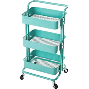 8e6a3c2da5ca Amazon.com : Gramercy Cart by Recollections, Teal : Office Products