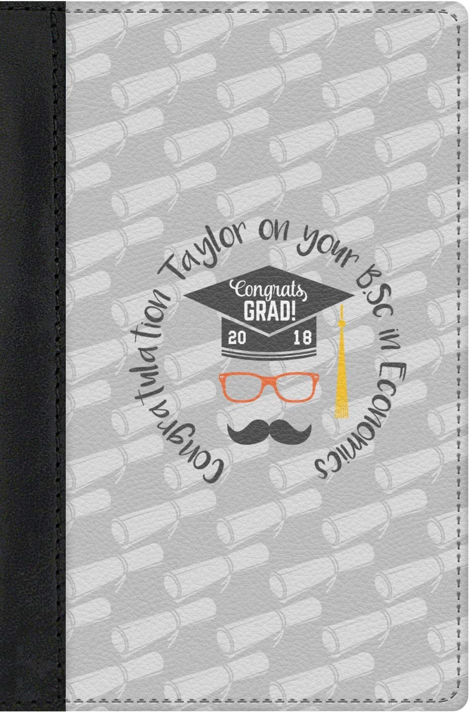 Personalized Hipster Graduate Genuine Leather Passport Cover