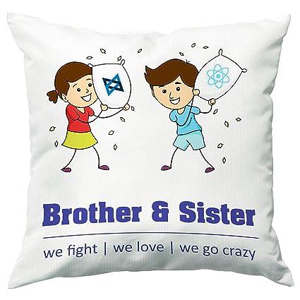 Buy Paper Plane Design Rakhi Brother Sister Printed Cushion