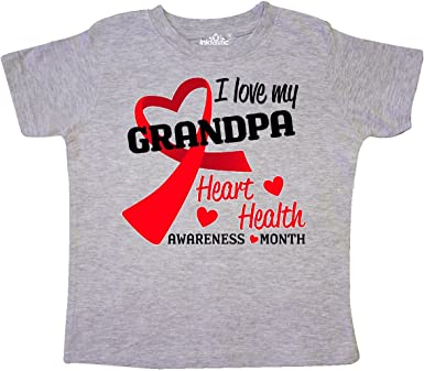 inktastic Heart HeaIth Awareness I Wear Red for My Abuelo Long Sleeve Creeper