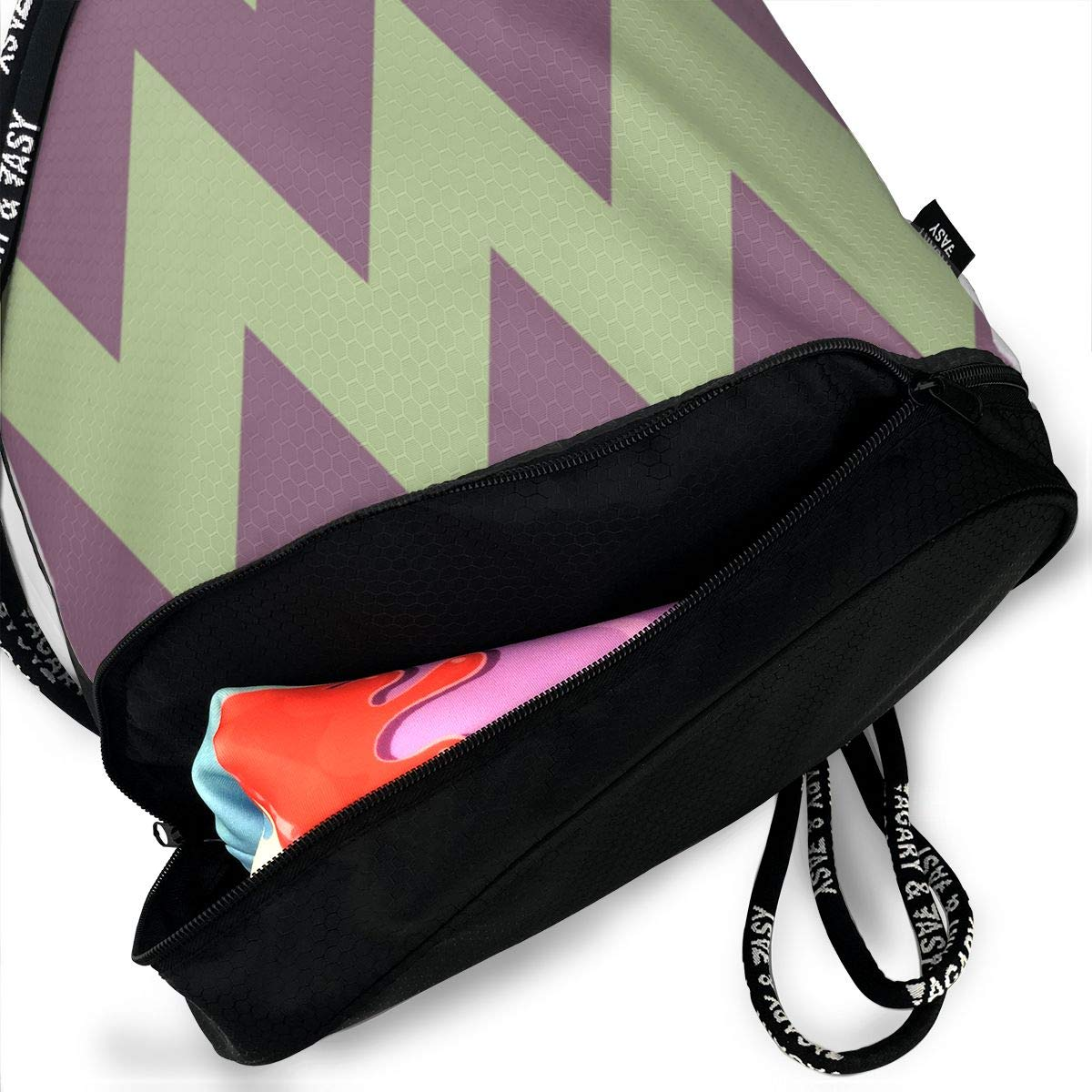 Simplicity Drawstring Backpack Sports Athletic Gym Cinch Sack String Storage Bags for Hiking Travel Beach