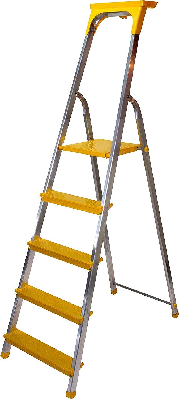 Alu Leiter 3 bis 8 Stufen Haushaltsleiter Malerleiter Mehrzweck Klapptrittleiter T/ÜV 8 Stufen