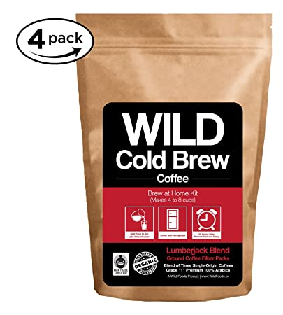 Brew-At-Home Wild Coffee Pouch made with Ground Organic Wild Coffee