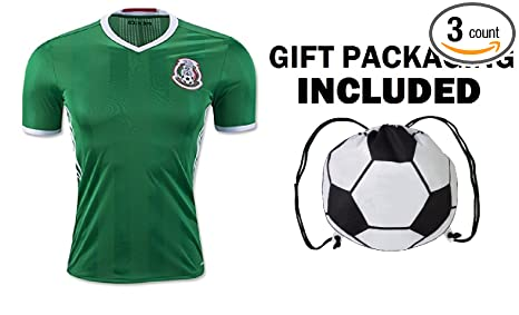 abe9c591d Fan Kitbag Mexico Men's Home/Away Soccer Jersey Adult Premium Gift Kitbag ✮  GIFT PACKAGING