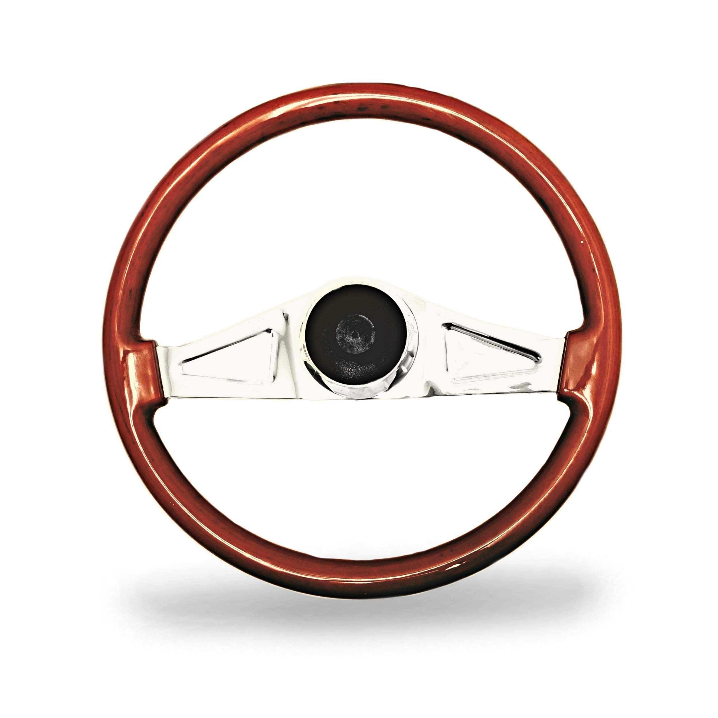 Woody's WP-SWKW9701.2 Rosewood Chrome Truck Steering Wheel (Beautiful African Hardwood) by Woody's