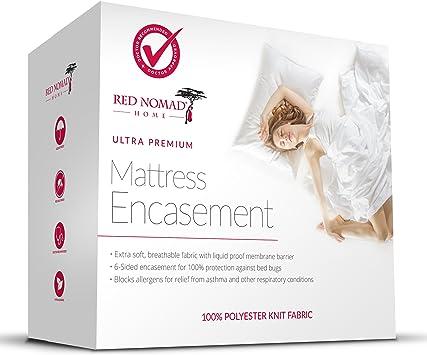 King Size Mattress Cover Waterproof Zippered Bed Bug Proof Encasement California