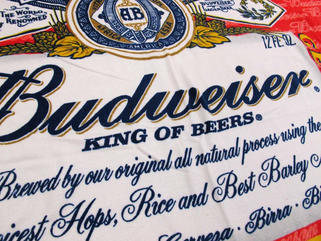 Classic Budweiser etiqueta toalla de playa (30 en. X 60 en.: Amazon.es: Hogar