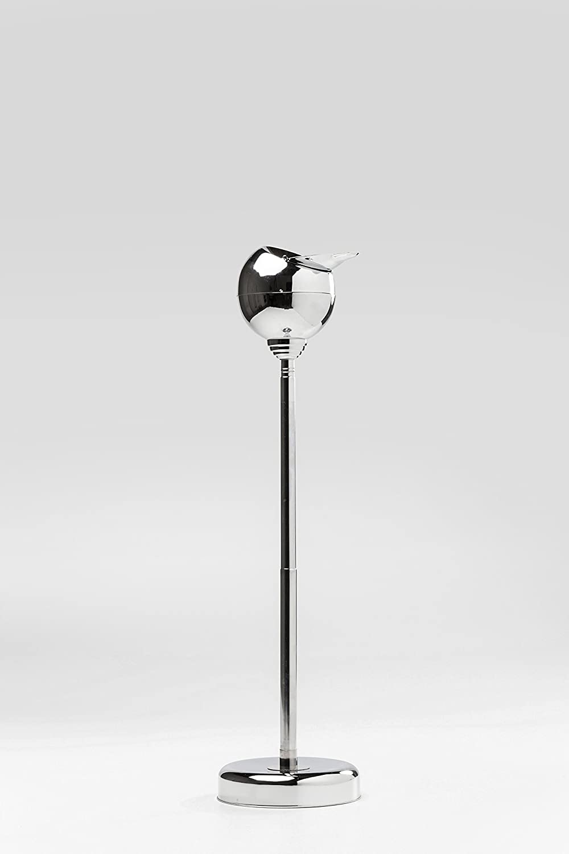 Silber-Chrom mit schlie/ßbarer Klappe /& Ablagefl/äche f/ür Zigaretten h/öhenverstellbarer Retro Standaschenbecher 13x13x72 cm Kare 5171 Standascher Spheric