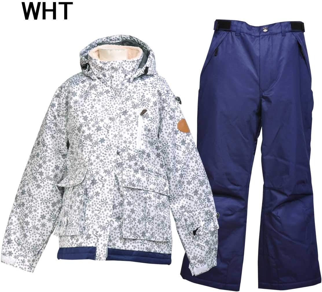 cosby(コスビー)女性用 レディース スキーウェア スキースーツ 上下セット☆WHT☆NVY CSW-2332 WHT Medium