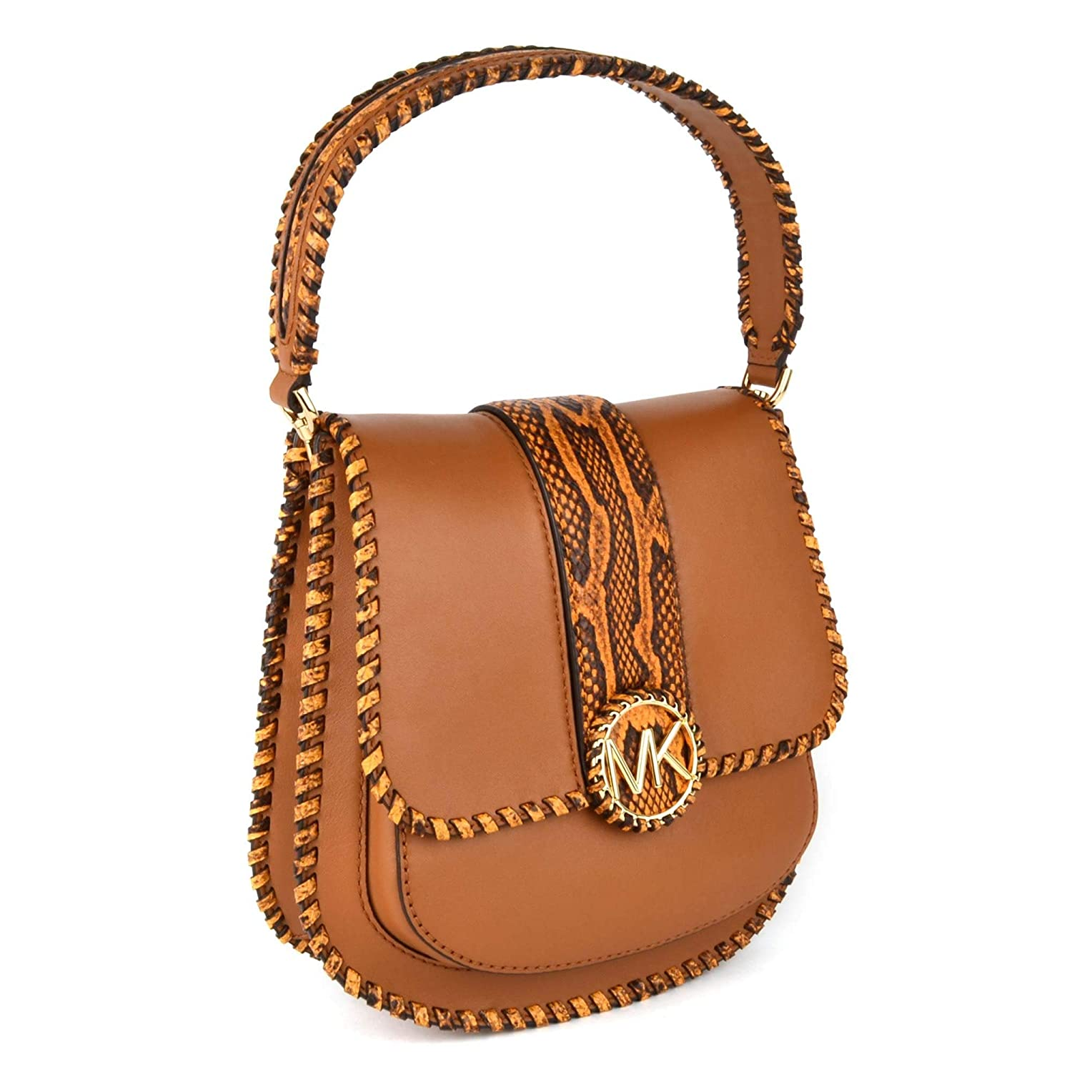 851acd21fc4db7 MICHAEL by Michael Kors Lillie Acorn Leather Messenger Bag one size Acorn:  Amazon.co.uk: Shoes & Bags