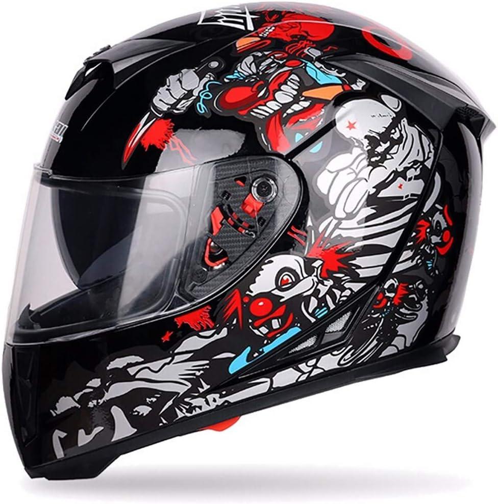 57-64cm SXC Casque Moto Int/égral Homme pour Moto et Scooter Homologu/é ECE Homme et Femme Double Visi/ère avec Protection UV