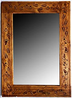 product image for Rustic Animal Paw Print Wall Mirror