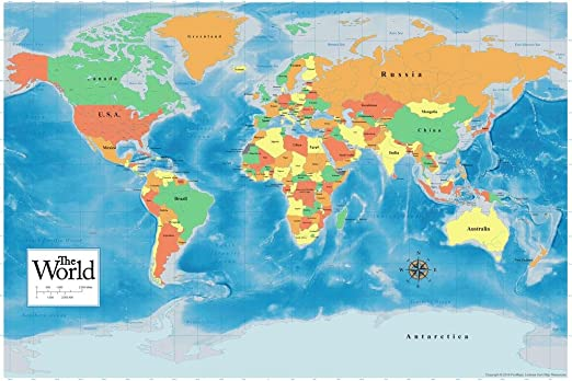 Map Of The World 2020 Amazon.com: Official 2020 World Map Classroom Reference Chart