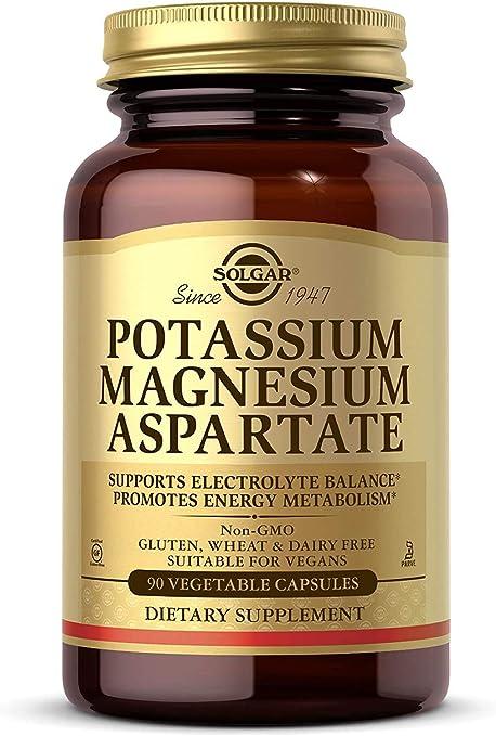 Solgar – Potassium Magnesium Aspartate, 90 Vegetable Capsules